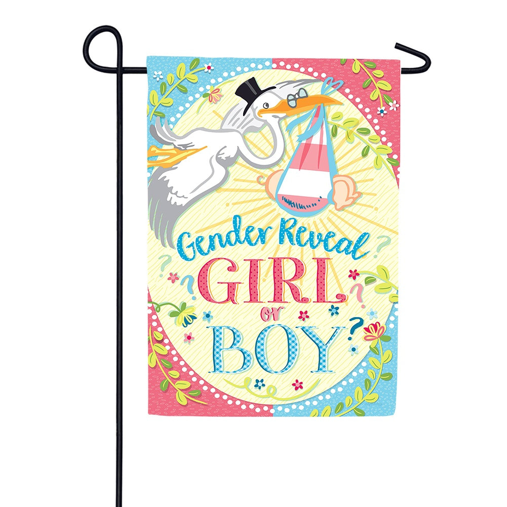 Gender Reveal Garden Flag