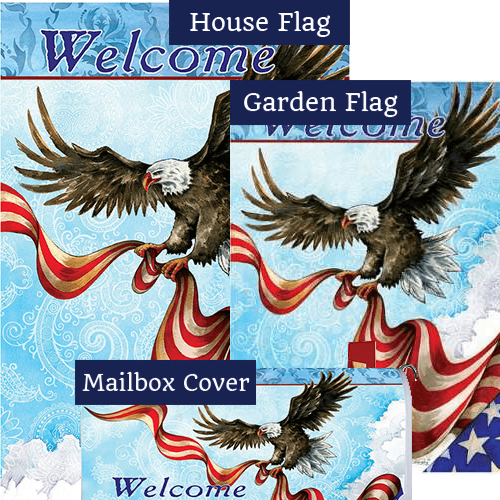 Patriotic Eagle Yard Makeover Set (3 Pieces)