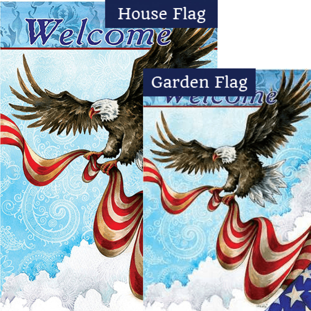 Patriotic Eagle Flags Set (2 Pieces)