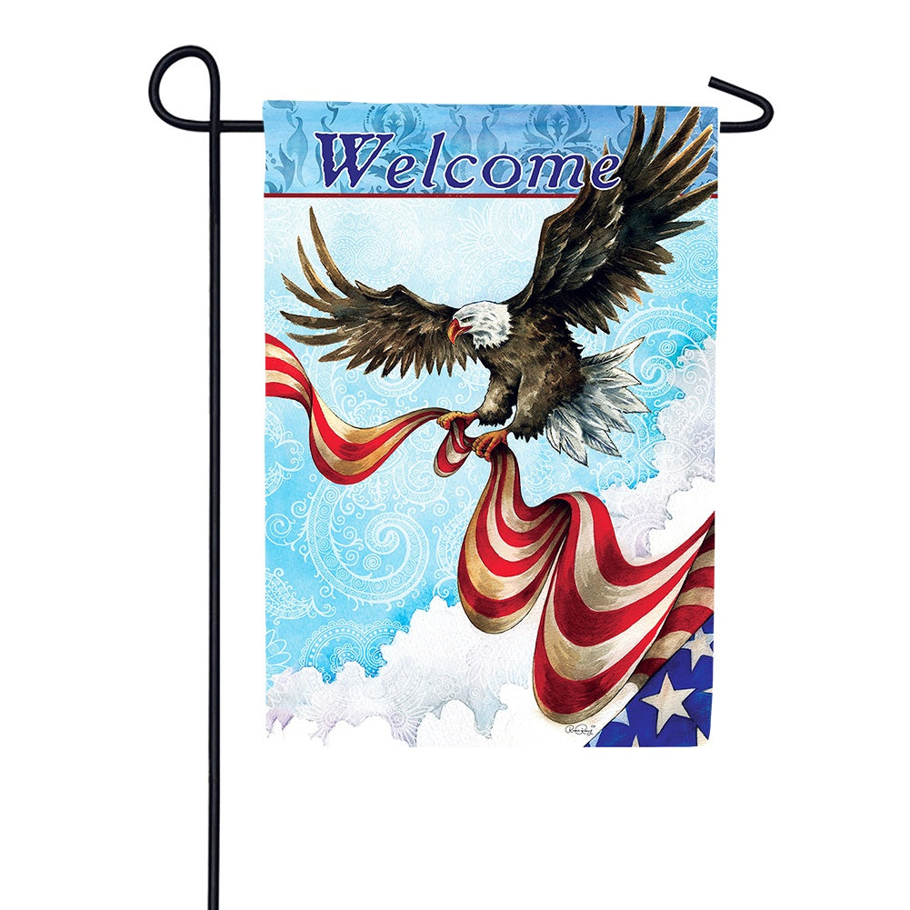 Patriotic Eagle Garden Flag