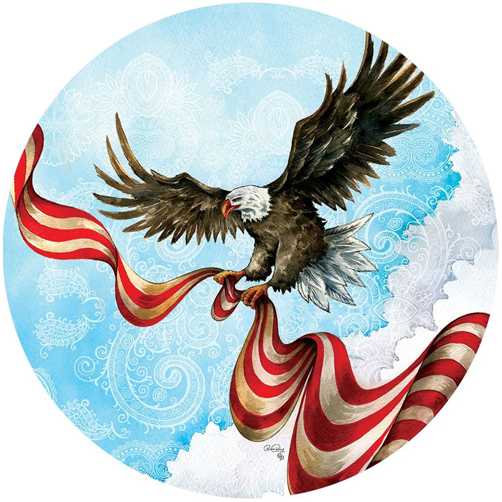 Patriotic Eagle Accent Magnet