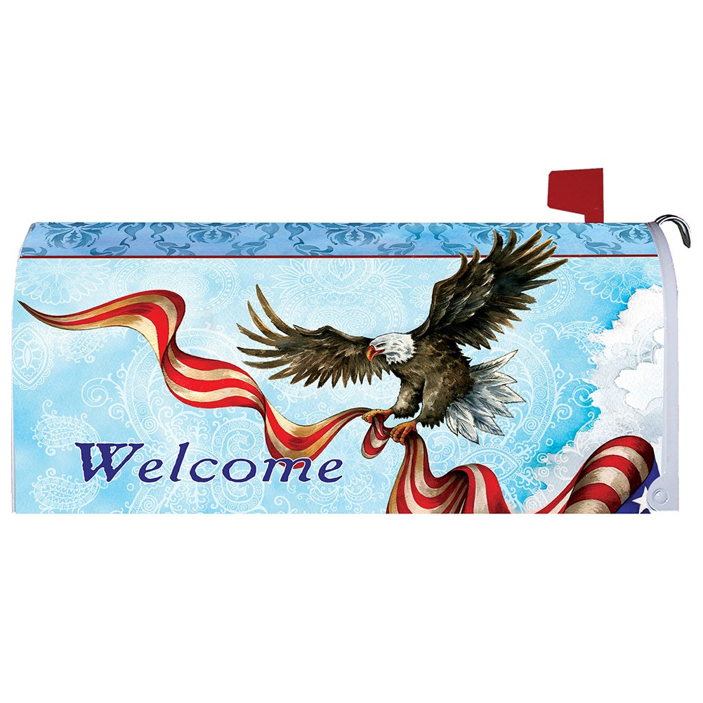 Patriotic Eagle Mailbox Cover
