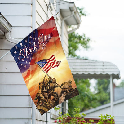 Troops Memorial Double Sided House Flag