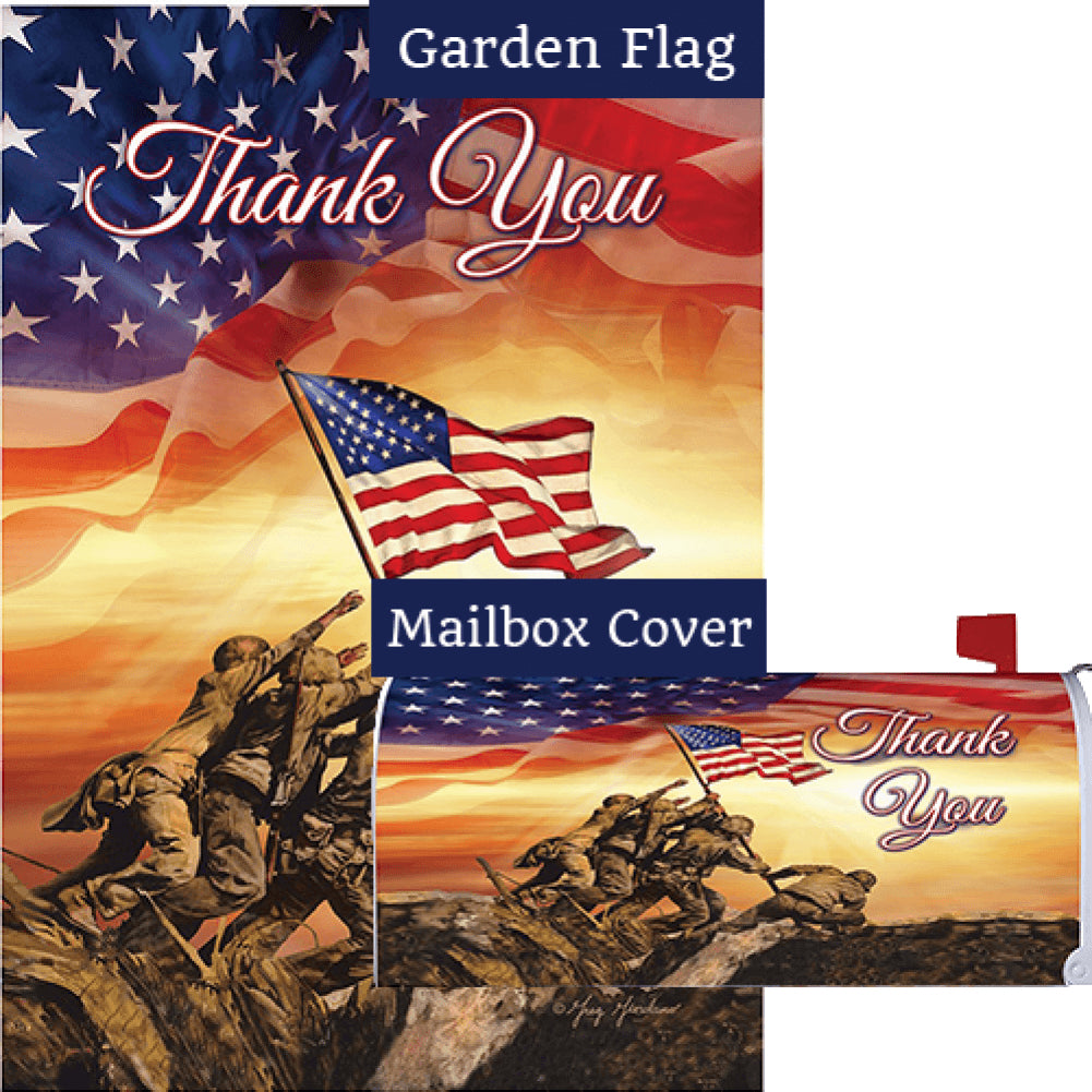 Troops Memorial Flag Mailwrap Set (2 Pieces)