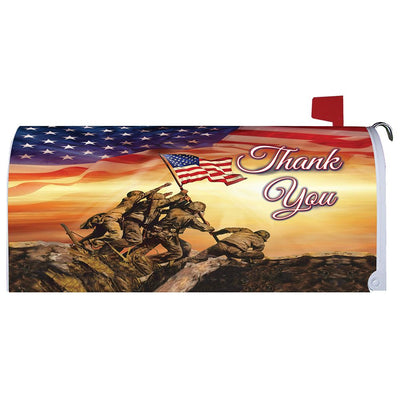 Troops Memorial Mailbox Cover