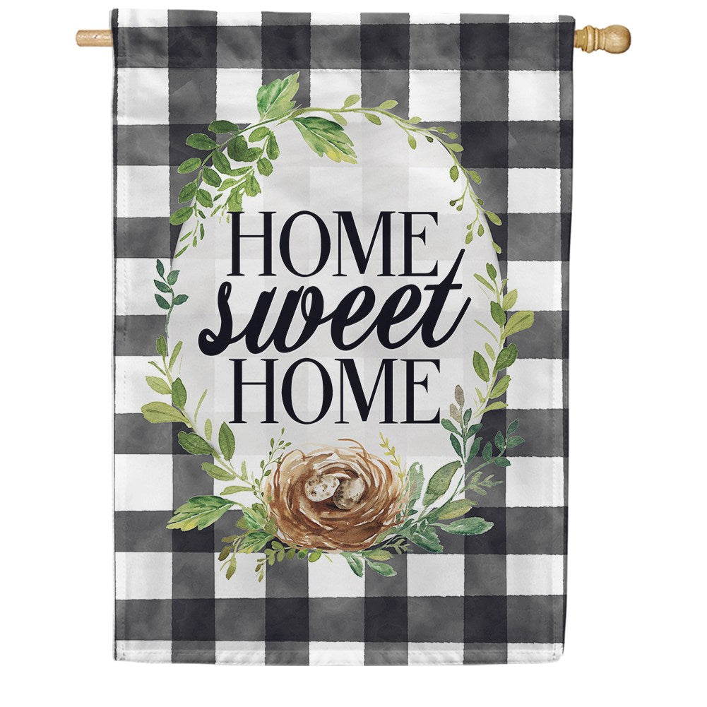 Gingham Home Double Sided House Flag