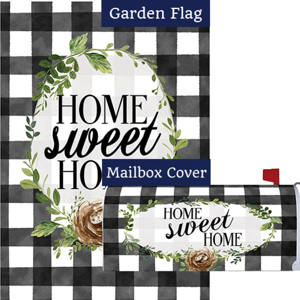 Gingham Home Flag Mailwrap Set (2 Pieces)