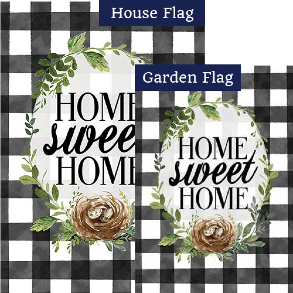 Gingham Home Flags Set (2 Pieces)
