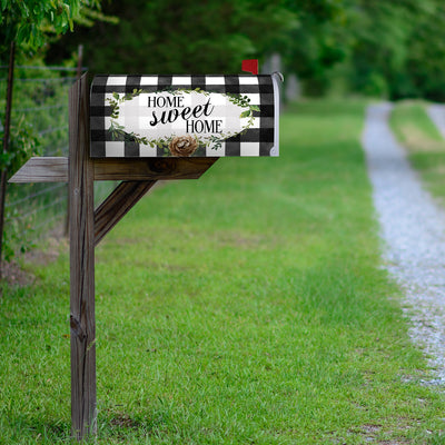 Gingham Home Mailbox Cover