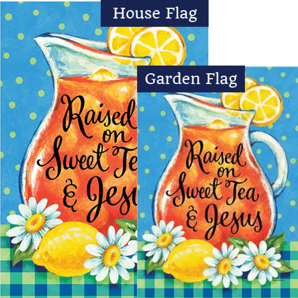 Sweet Tea and Jesus Flags Set (2 Pieces)
