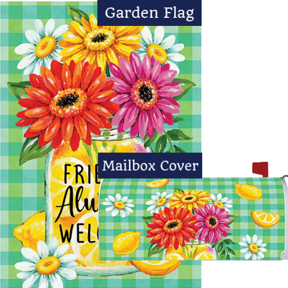 Gerberas and Lemons Flag Mailwrap Set (2 Pieces)