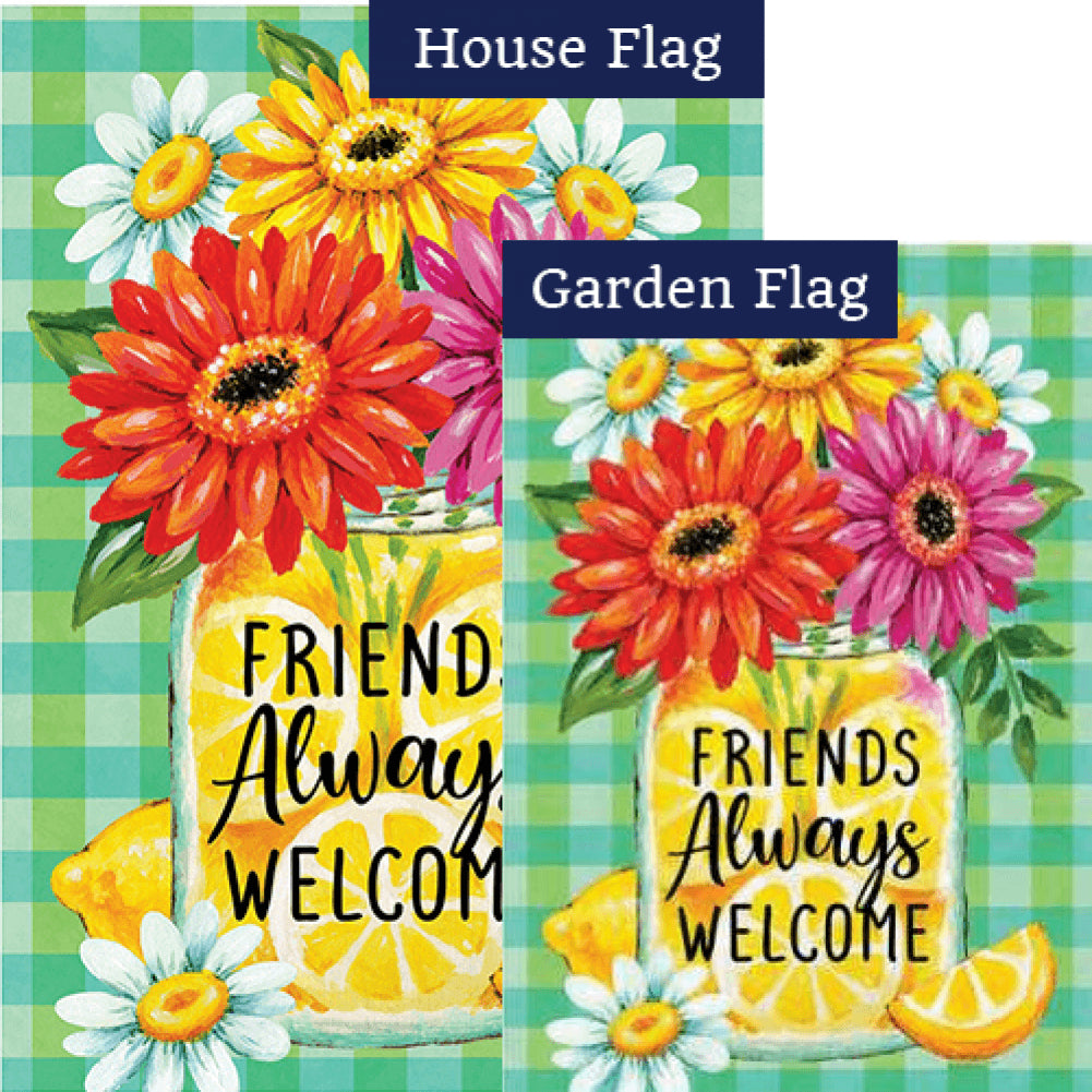 Gerberas and Lemons Flags Set (2 Pieces)