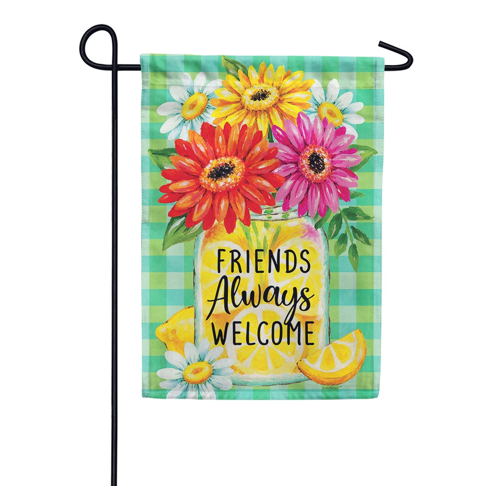 Gerberas and Lemons Garden Flag