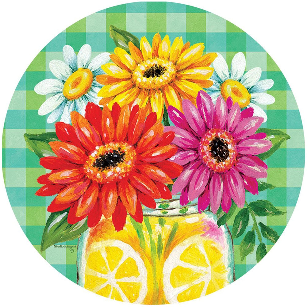 Gerberas and Lemons Accent Magnet