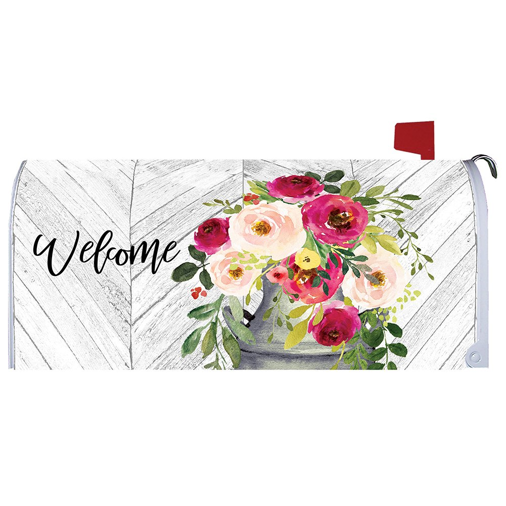 Milk Can Flowers Mailbox Cover