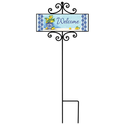 Blue Willow and Lemons Signature Sign