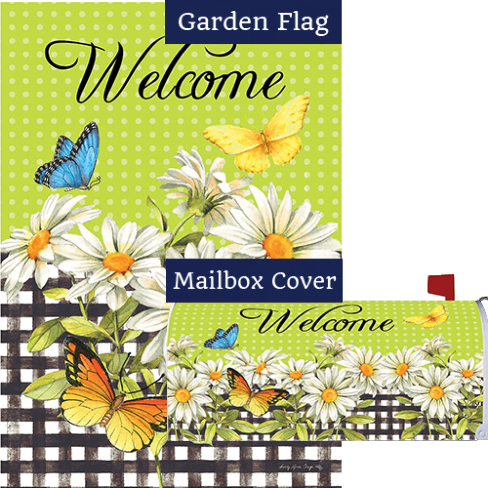 Daisies and Butterflies Flag Mailwrap Set (2 Pieces)
