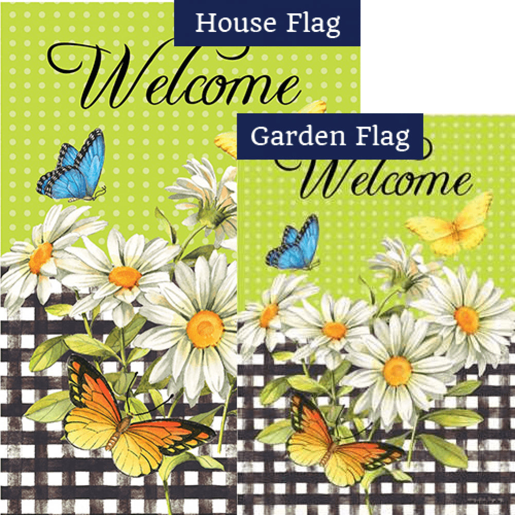 Daisies and Butterflies Flags Set (2 Pieces)