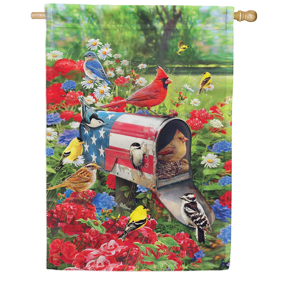 Songbird Mailbox House Flag