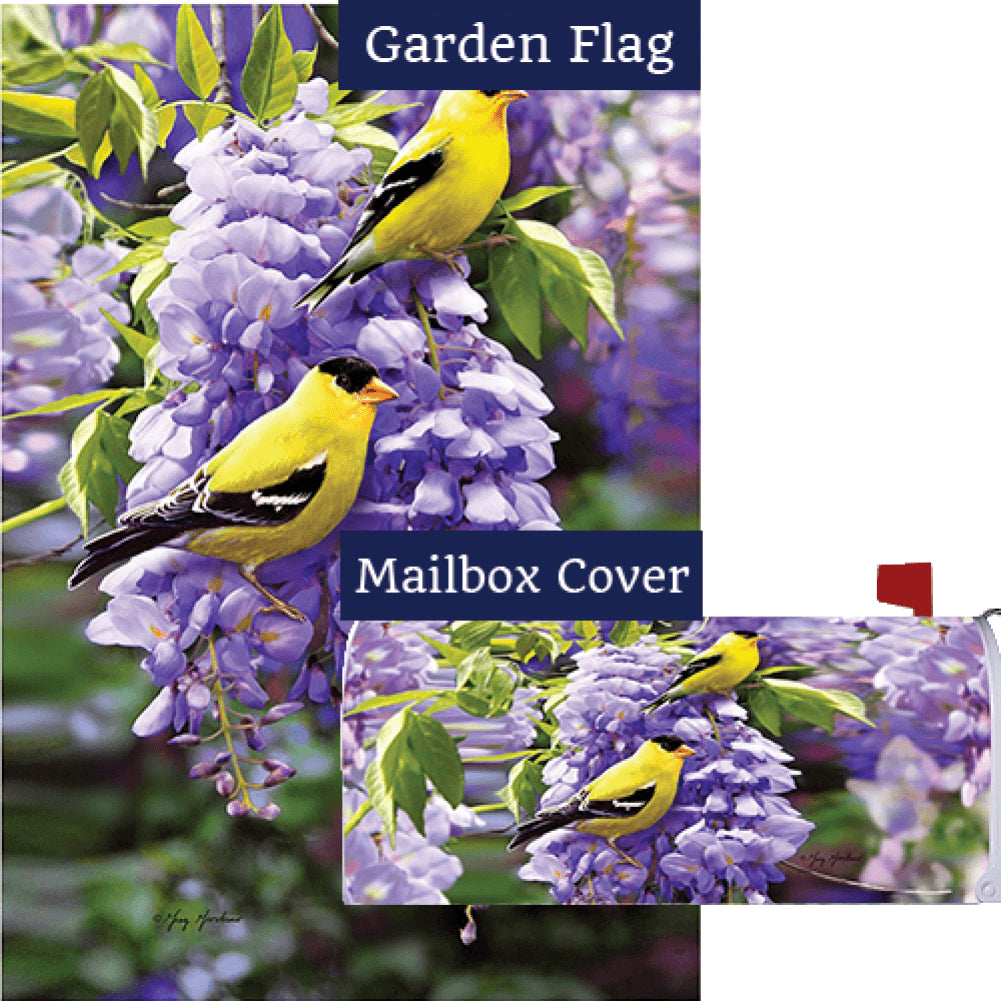 Goldfinch Wisteria Flag Mailwrap Set (2 Pieces)