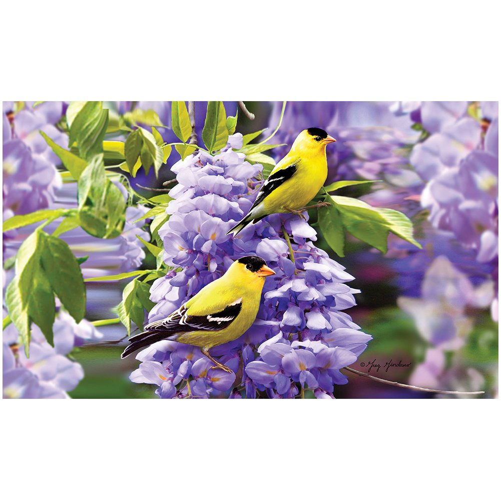 Goldfinch Wisteria Doormat