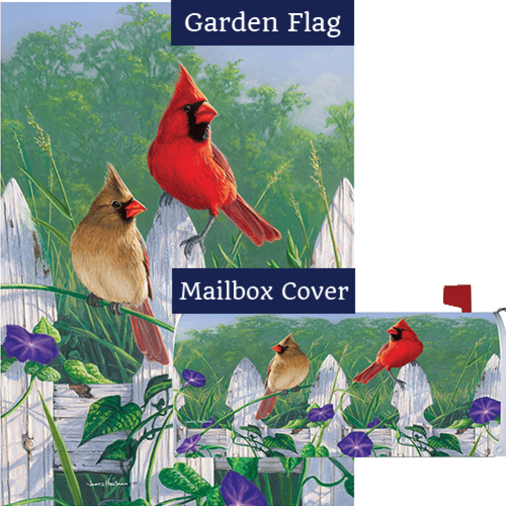Fence Cardinals Flag Mailwrap Set (2 Pieces)