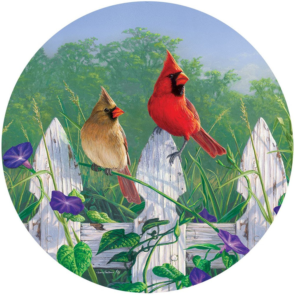 Fence Cardinals Accent Magnet