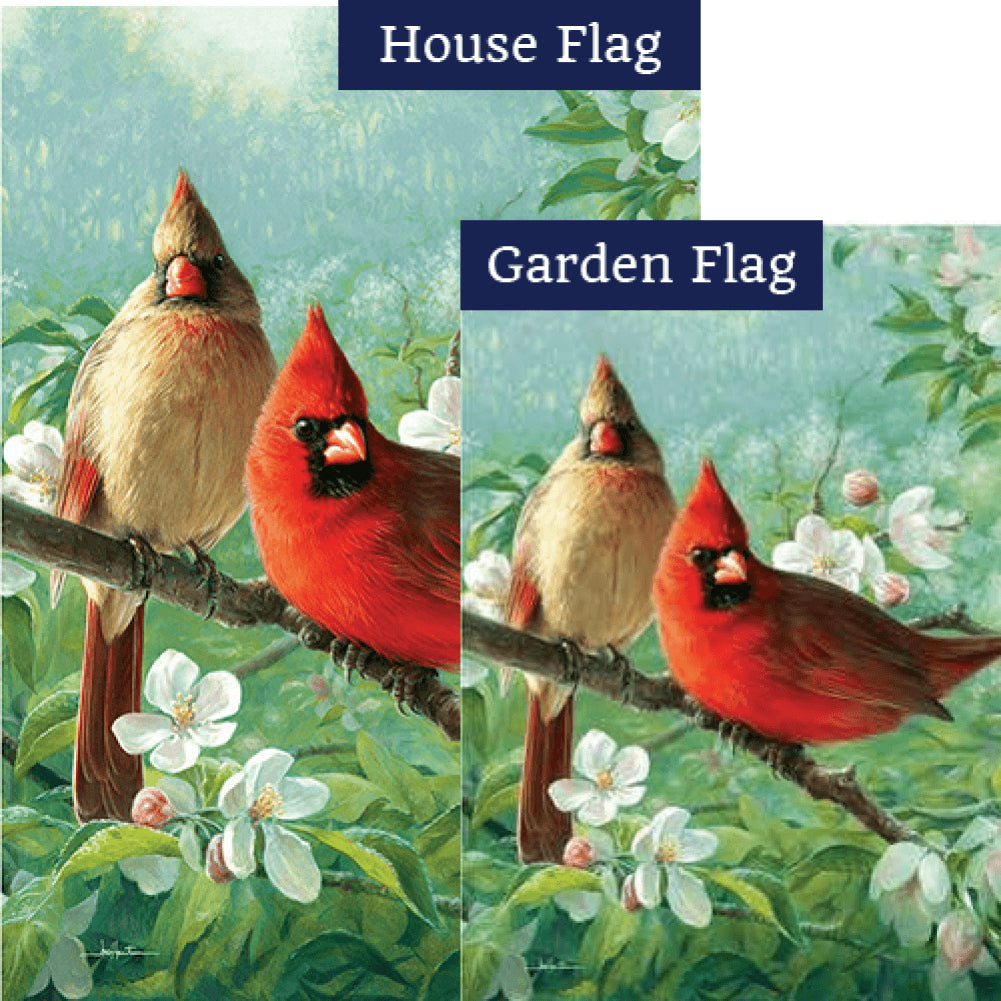 Cardinal Blossoms Flags Set (2 Pieces)