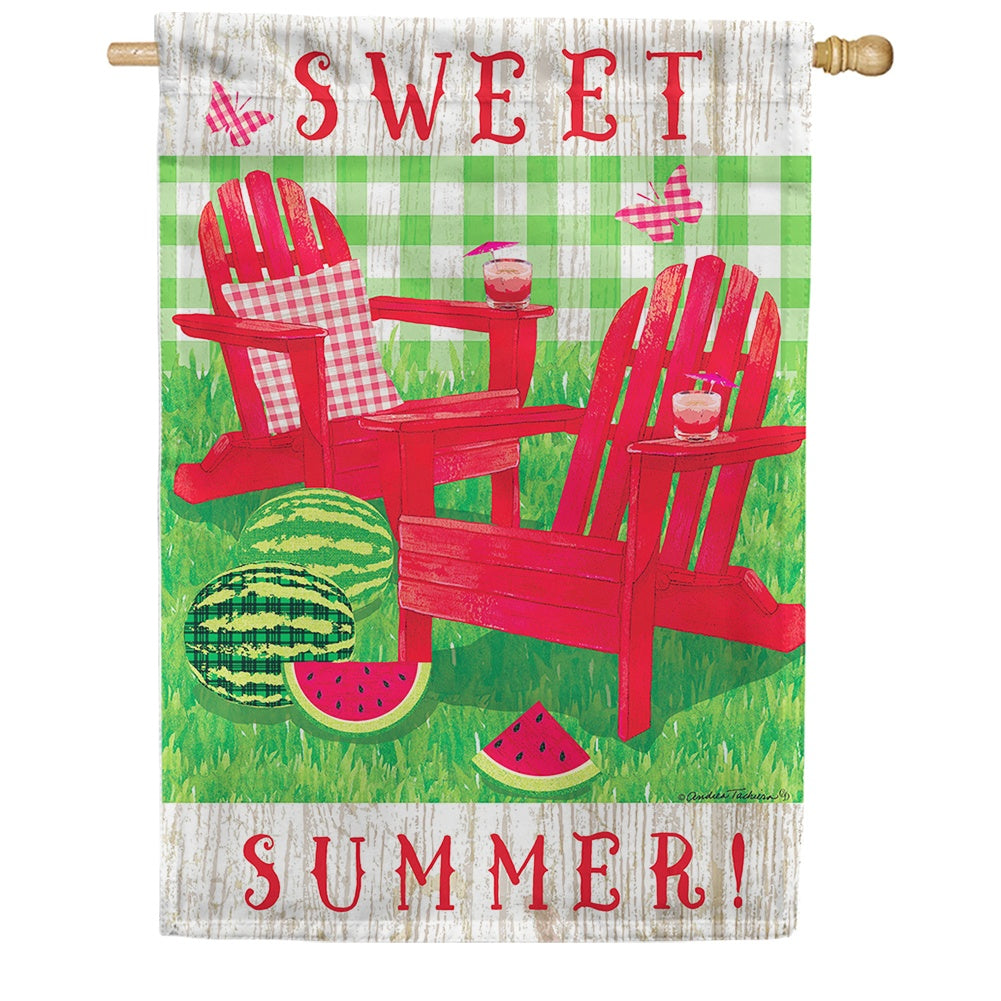 Summer Adirondacks Double Sided House Flag