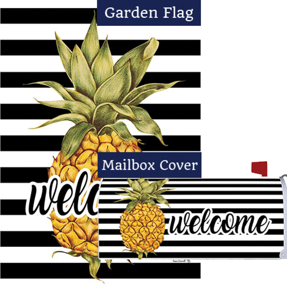 Welcome Pineapple Stripes Flag Mailwrap Set (2 Pieces)