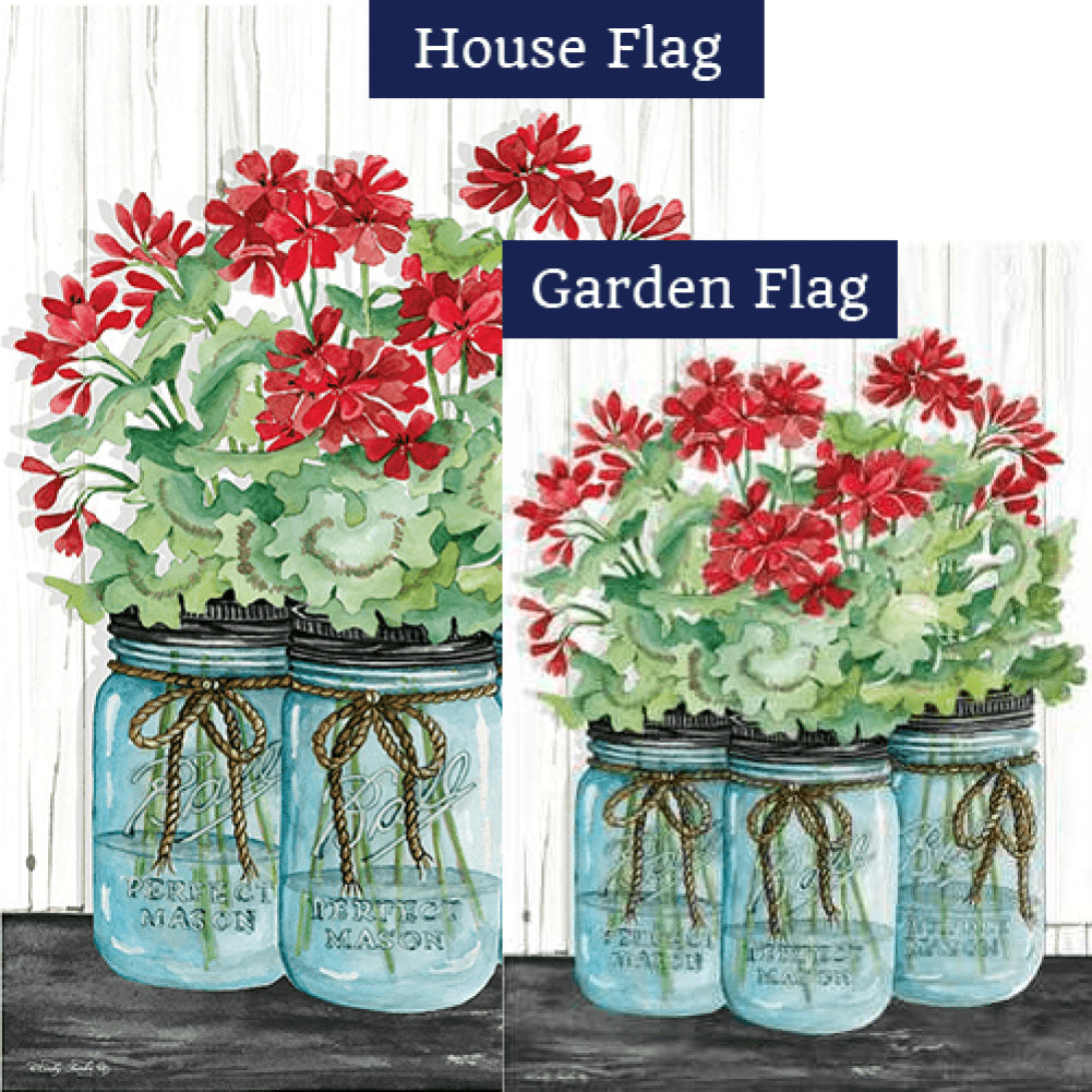 Geranium Jars Flags Set (2 Pieces)