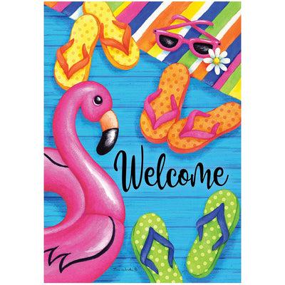 Summer Welcome Double Sided House Flag