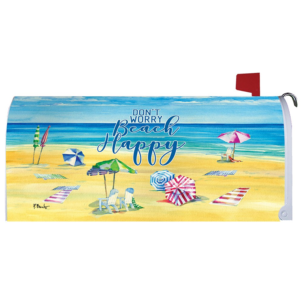 Beach Happy Mailbox Cover