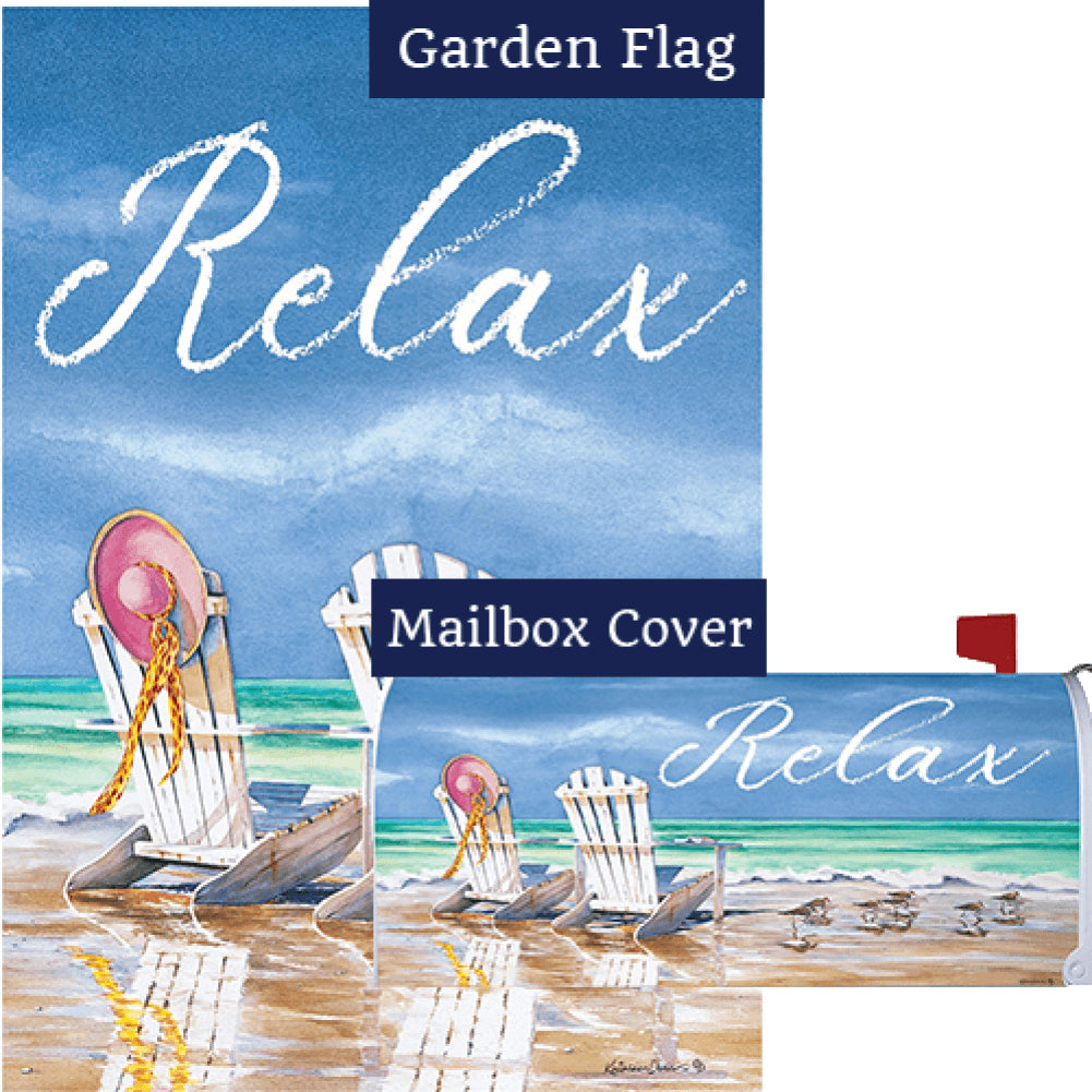 Relax Adirondacks Flag Mailwrap Set (2 Pieces)