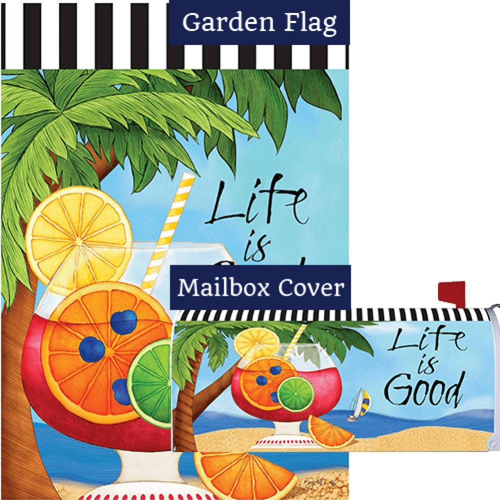 Life is Good Flag Mailwrap Set (2 Pieces)