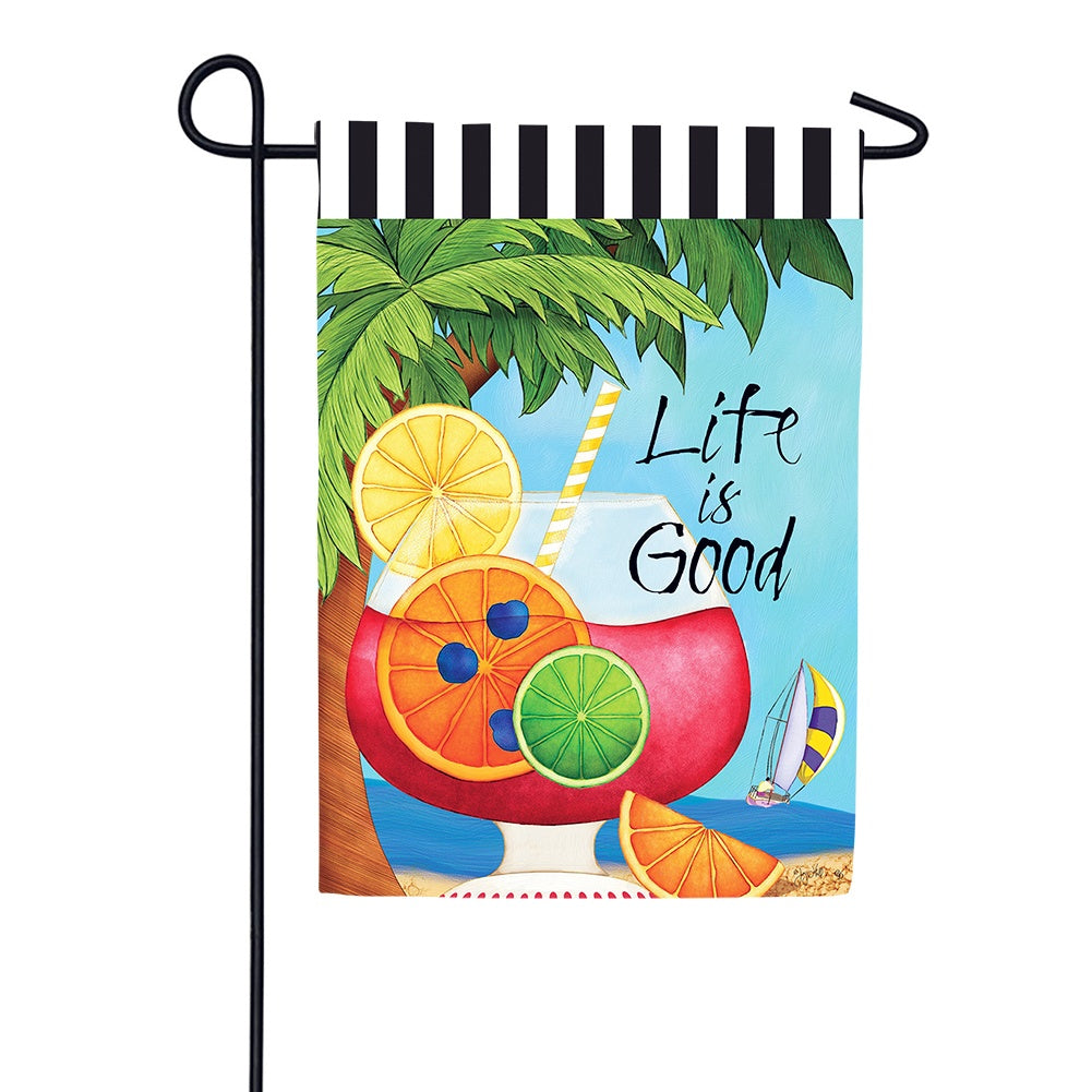 Life is Good Garden Flag
