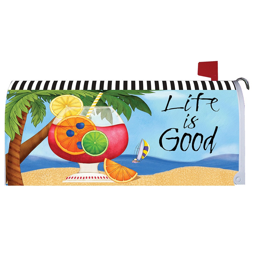 Life is Good Mailbox Cover