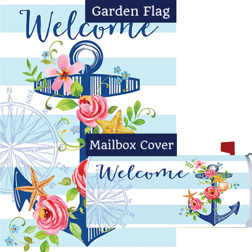Floral Anchor Flag Mailwrap Set (2 Pieces)