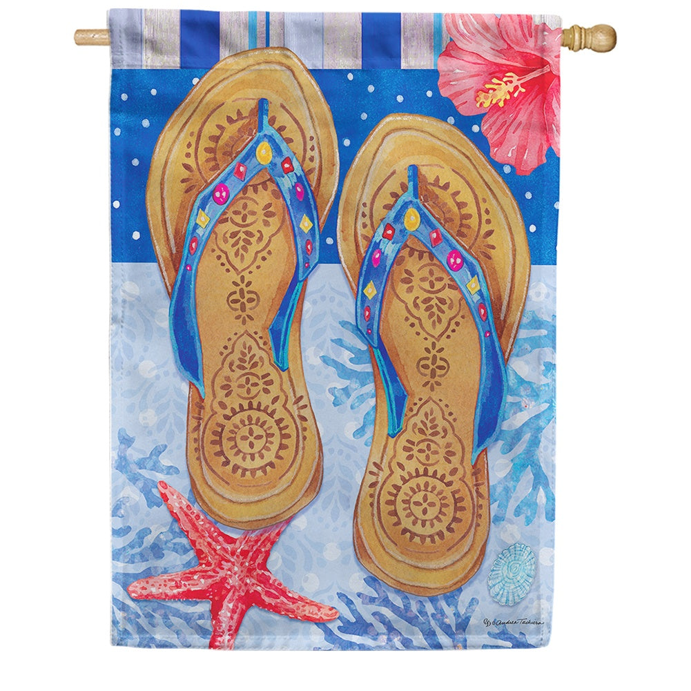 Beaded Sandals House Flag