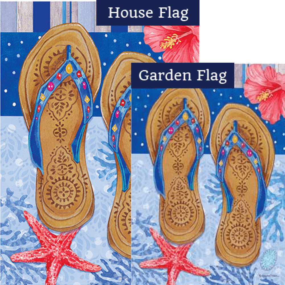 Beaded Sandals Flags Set (2 Pieces)