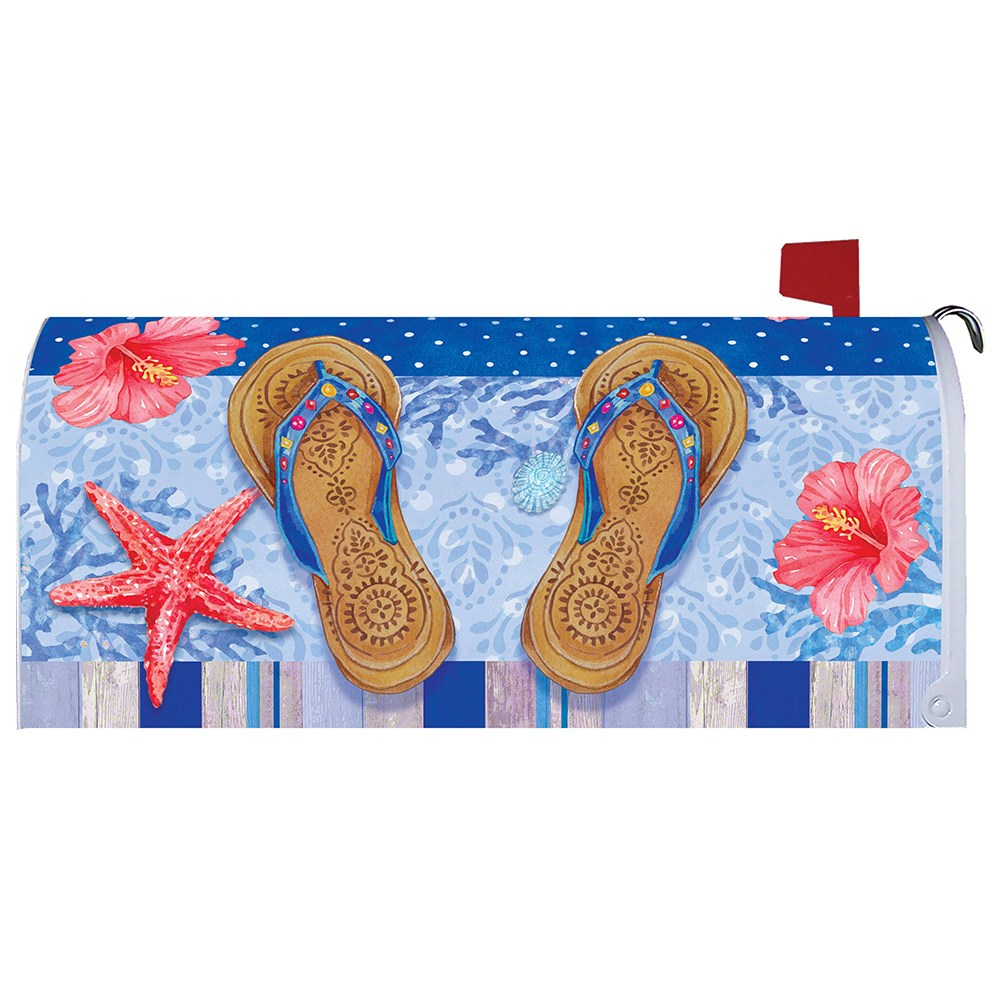 Beaded Sandals Mailbox Cover