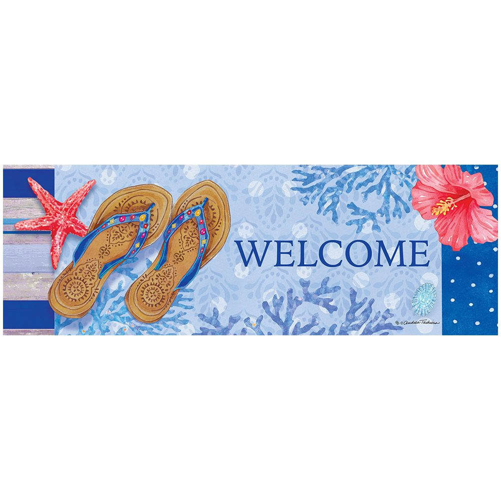 Beaded Sandals Signature Sign