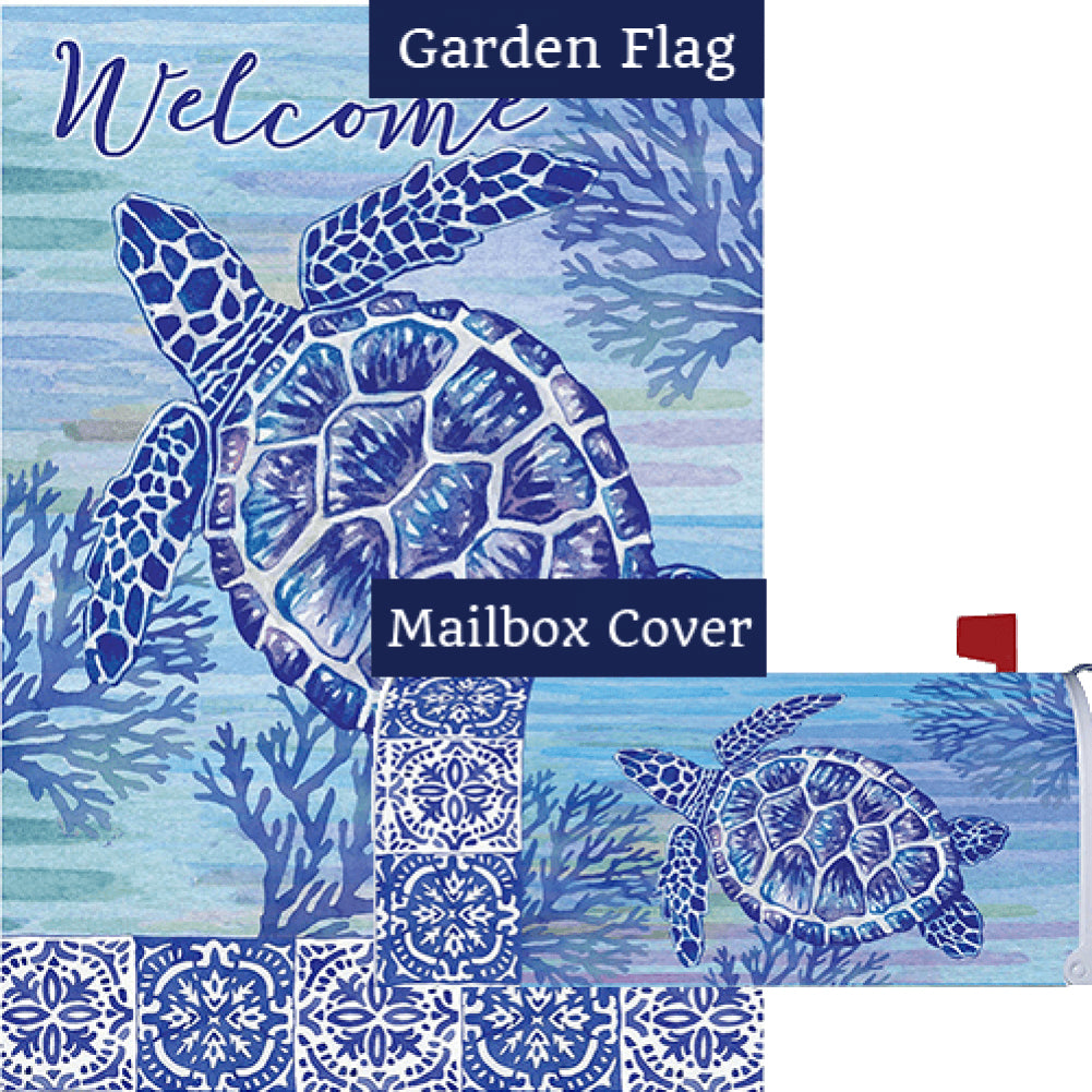Turtles and Tiles Flag Mailwrap Set (2 Pieces)