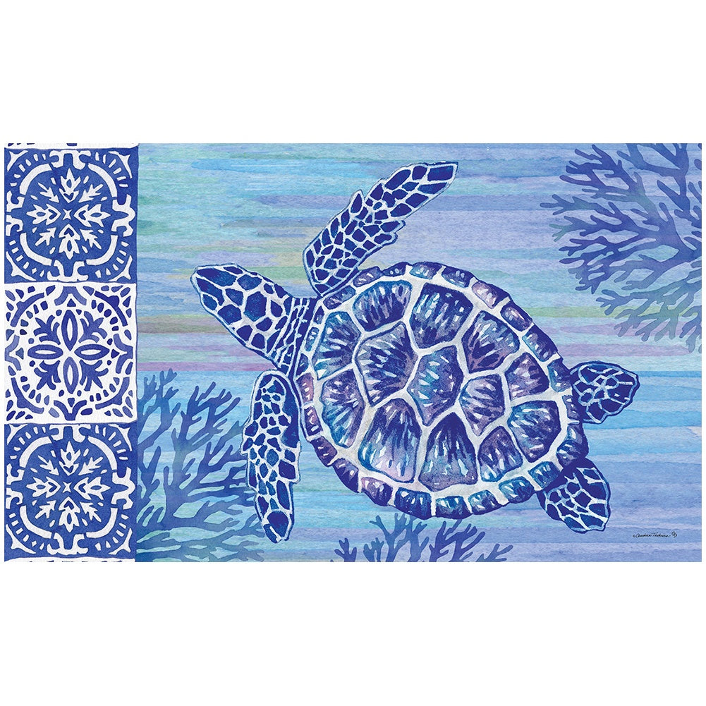 Turtles and Tiles Doormat