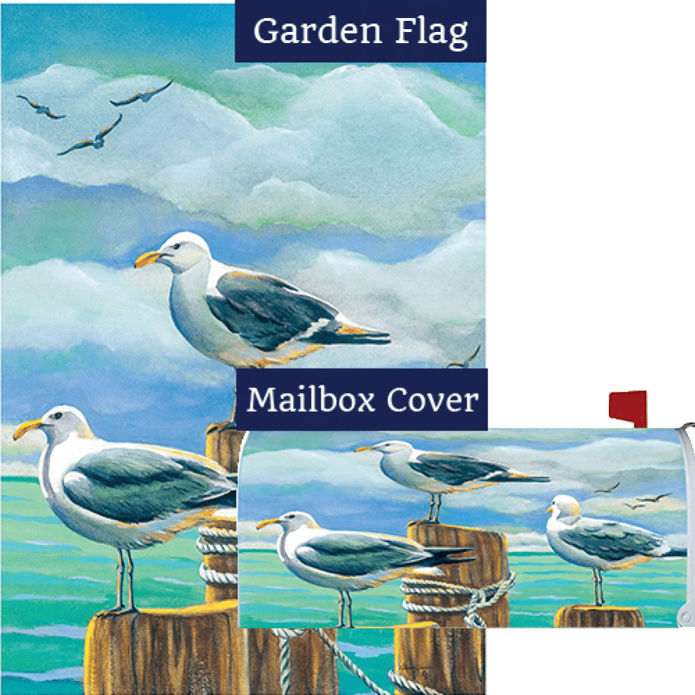 Seagull Pilings Flag Mailwrap Set (2 Pieces)