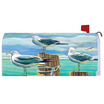 Seagull Pilings Mailbox Cover