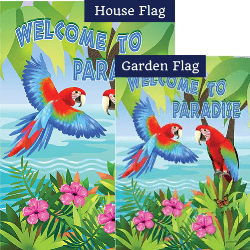 Paradise Parrots Flags Set (2 Pieces)