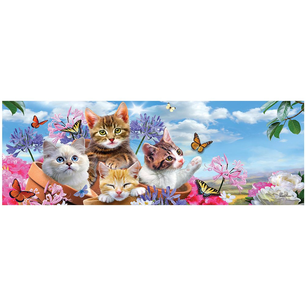 Kittens and Flowers Signature Sign