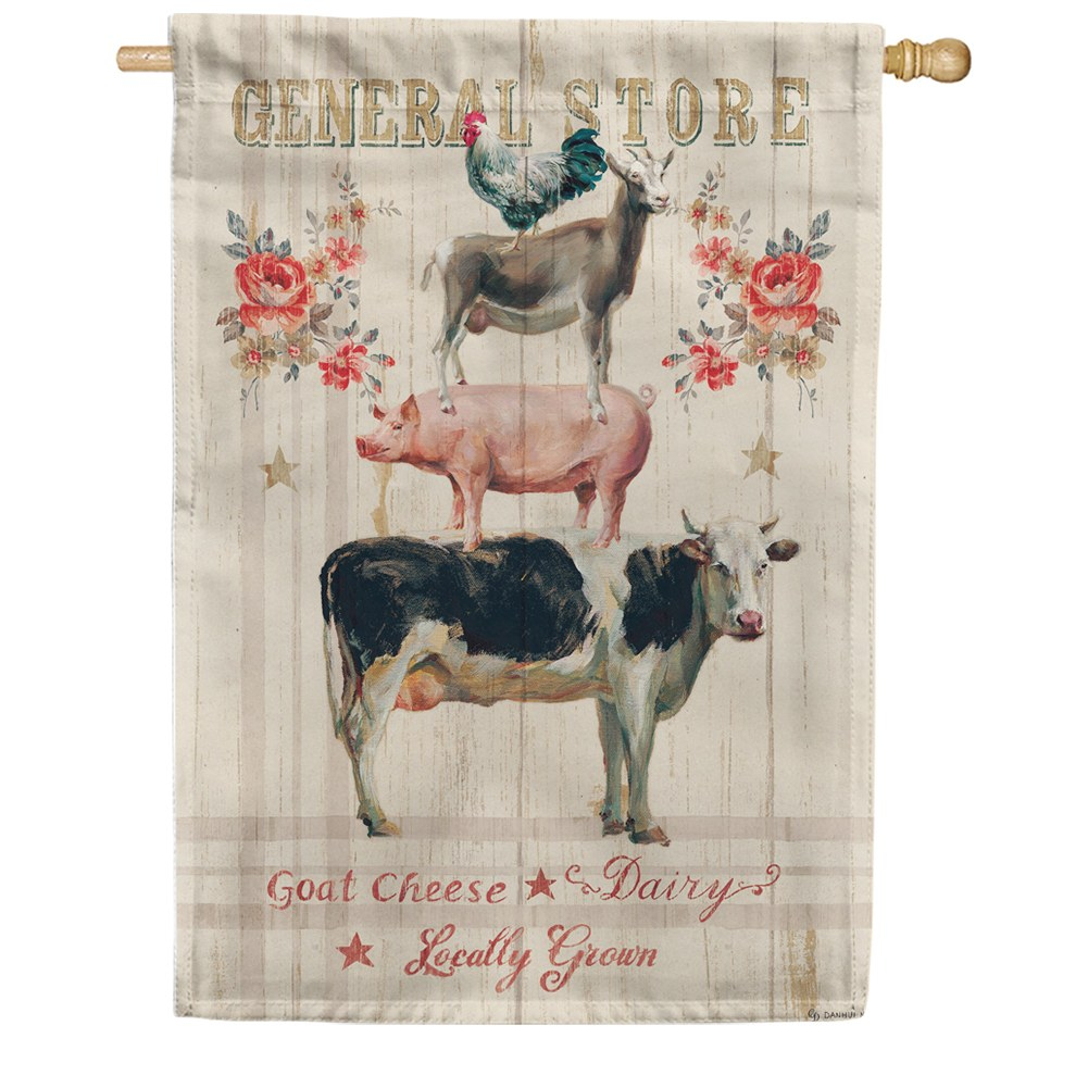 Farm Stack Double Sided House Flag
