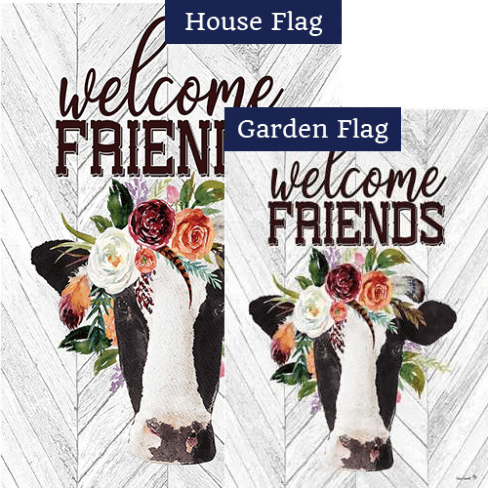 Boho Cow Flags Set (2 Pieces)